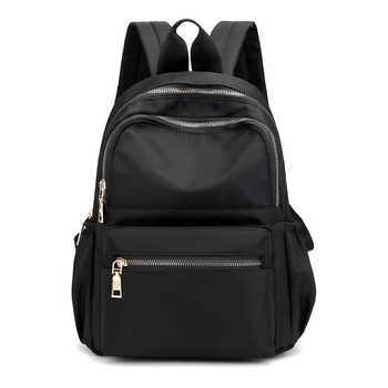 Casual Oxford Women Backpack Black Waterproof Nylon School Bags For Teenage Girls Fashion Travel Backpack Tote Mochila - DISCOUNT ITEM  40% OFF All Category