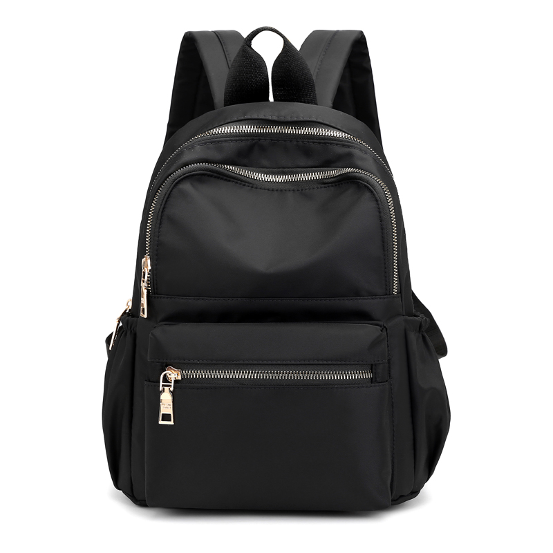 Casual Oxford Women Backpack Black Waterproof Nylon School Bags For Teenage Girls Fashion Travel Backpack Tote Mochila image