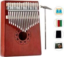 Калимба 17 клавиш для большого пальца пианино портативное дерево