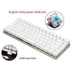 Ajazz AK33 82 klawisze klawiatura mechaniczna układ rosyjski/angielski klawiatura do gier podświetlenie RGB przewodowa klawiatura