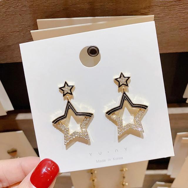 INS Star Earrings Trendy Star Women Dangle Earrings Pentagon Shiny Pendant Earrings For Women Drops Earrings.jpg 640x640 - INS Star Earrings Trendy Star Women Dangle Earrings Pentagon Shiny Pendant Earrings For Women Drops Earrings Party Earrings