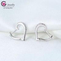 Chic Women Earrings CZ Drop Dangle Earring Ear Studs 925 Silver Hoop Earrings Zircon Weddings Gift Female Jewelry Brand Gift