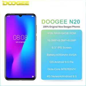 "Image 2 - Doogee N20 4G Smartphone 6.3 ""Waterdrop Screen Mobiele Telefoon 4Gb + 64Gb Octa Core 16MP Triple achter Camera 4350Mah 10W Quick Charge"