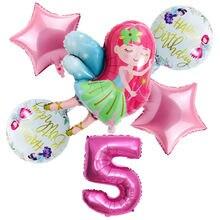 Новинка 6 шт/компл маленькие воздушные шары Феи для девочек