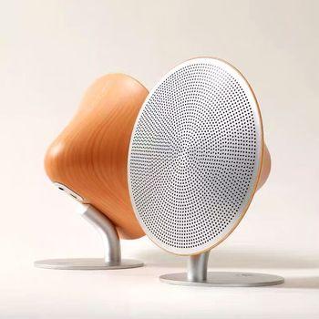 Retro Bluetooth Lautsprecher im edlen Holz Look 1