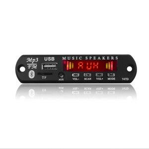 Image 3 - Bluetooth MP3 WMA декодер KEBIDU с цветным экраном, плата 5 в 12 В USB аудио TF FM радио модуль с пультом дистанционного управления для автомобиля