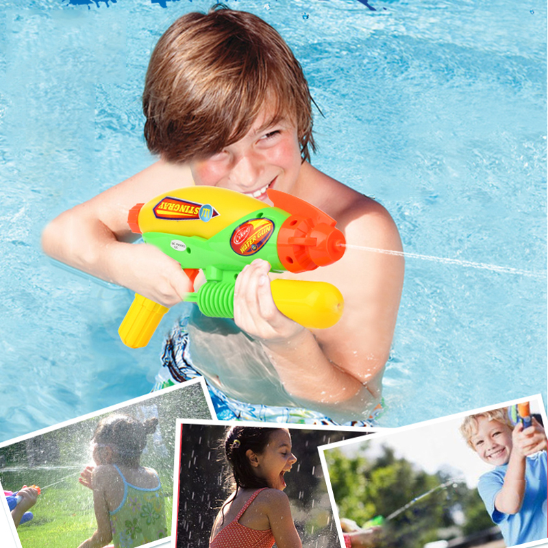 Water Guns Toys Kids Pistol Squirt Gun For Child Summer Beach Games Swimming Pool Classic Outdoor Beach Blaster Gun Portable