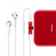 Для Apple iPhone X 7 8 Plus XS Max XR аудио зарядка двойной адаптер сплиттер разъем для наушников AUX разъем конвертер