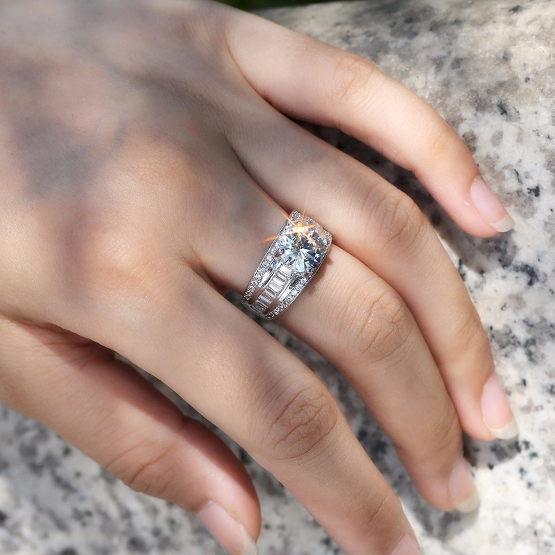 Diamond ring Woman'sring ring Crystal AAA Zircon Ring Lady's gift to woman Valentine's Day engagement ring Jewelry ring B2576