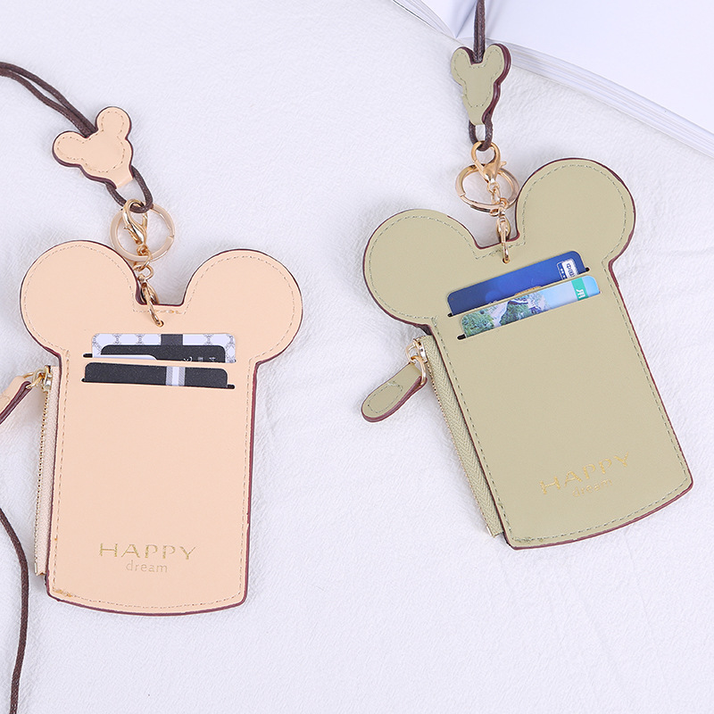 Certificate Card Sleeve Wallet Multi Card Bit Bus Access Control Work Documents Chest Neck Rope Purse