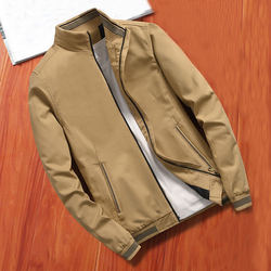 MANTLCONX New Spring Autumn Men's Jacket Casual Male Outwear Windbreaker Stand Collar Jacket Men Solid Color Outwear Coats Brand