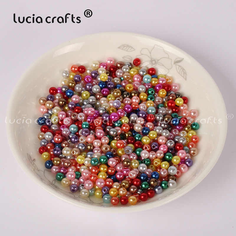 לוסיה מלאכות 4mm 500 יח'\חבילה מעורב צבעים עגולות Loose חרוזים DIY ביצוע אביזרי E0813
