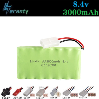 3000mah 8.4v Rechargeable Battery For Rc toys Cars Tanks Train RC Robots Gun Boat NiMH Battery AA 8.4v 3000mah Battery Pack image