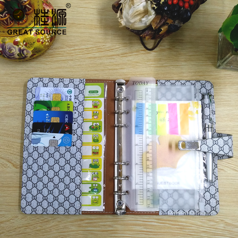 Office & School Supp. ... Filing Products ... 32537105532 ... 5 ... Padfolio Conference Fefillable Folder Clear Pen Bag Color Stickers Fashion Design 6 Rings Binder Notebook 2020 Calendar ...