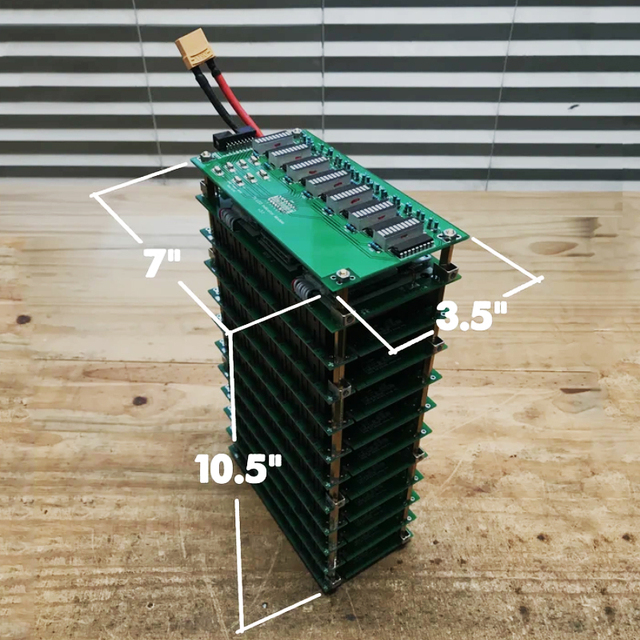 7S Ladezustand Meter und 7S 50A Bluetooth BMS 7s 18650 batterie Box DIY 7s power Wand batterie pack LED DIY ebike batterie