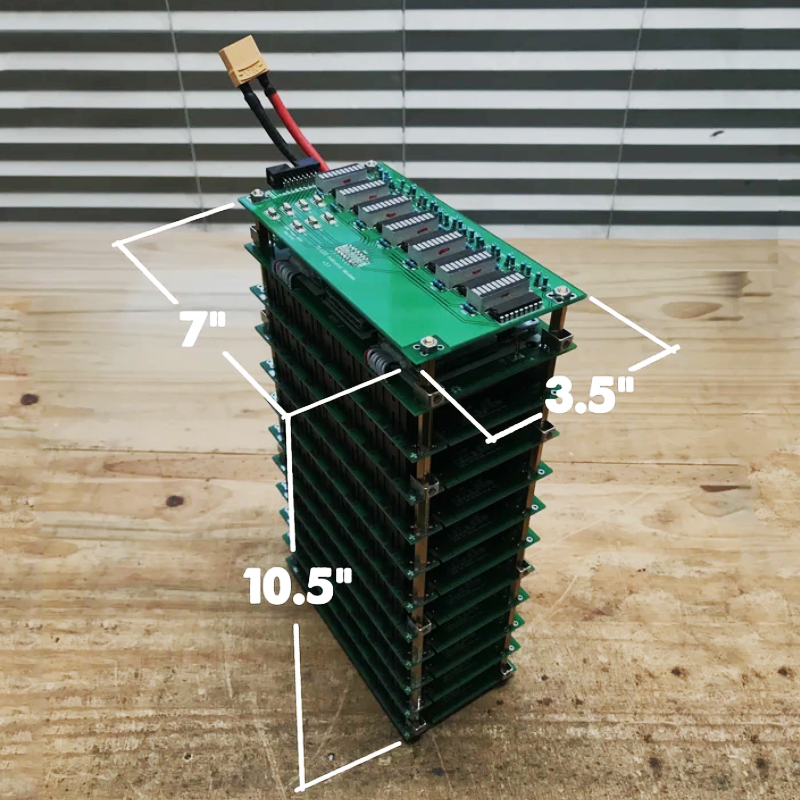7S State Of Charge Meter And  7S 50A Bluetooth  BMS 7s 18650 Battery Box DIY 7s  Power Wall Battery Pack LED DIY Ebike Battery