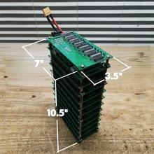 7S stan naładowania miernika i 7S 50A Bluetooth BMS 7s 18650 opakowanie na baterie DIY 7s moc baterii ściennej LED DIY ebike baterii