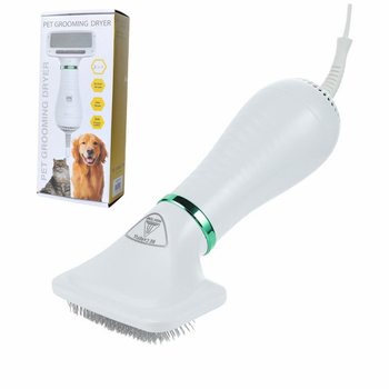 Pet Cat And Dog Hair Dryer Hair Comb Two In One Hot Wind Portable Hair Dryer Pet Comb Brush Low Noise kemei km 6830 portable mini hair dryer low noise evenly hot wind collapsible travel hair dryers 220v compact hair dryer 1200w