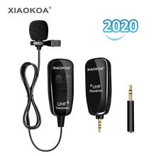 Xiaokoa uhf lapela lapela microfone sem fio gravação vlog youtube entrevista ao vivo para iphone ipad pc android dslr microfone