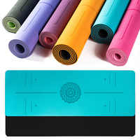 Esterilla de Yoga TPE de 6mm para principiantes, esterilla antideslizante para hacer ejercicio en el hogar, Fitness, gimnasia, Pilates