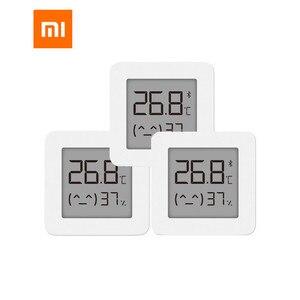 Image 1 - Gebündelt Verkauf Xiaomi Smart Lcd bildschirm Digitale Thermometer 2 Mijia Bluetooth Temperatur Feuchtigkeit Sensor Feuchtigkeit Meter Mijia App