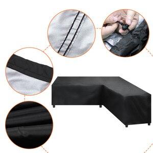 Image 5 - مقاوم للماء أريكة حماية L شكل الزاوية غطاء أريكة في الهواء الطلق الروطان أثاث حديقة الفناء الغطاء الواقي جميع الأغراض الغبار يغطي
