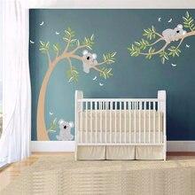 Большой Размеры Коала на ветках дерева наклейки стену Детская