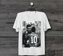 Pedle And Muhammed Ali Clay Meet Frwtbalerl Boxdedr Vintage T Shirt Hot New Tshirt Vaporwave(China)