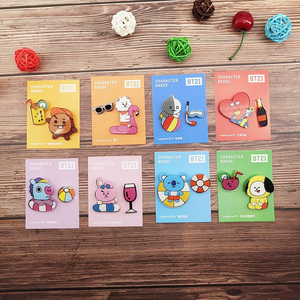 Cartoon Icons Enamel Pins Kpop Bangtan Summer Beach Swimming Series Badge Buttons Brooches For Men Women Lapel Pins Accessories