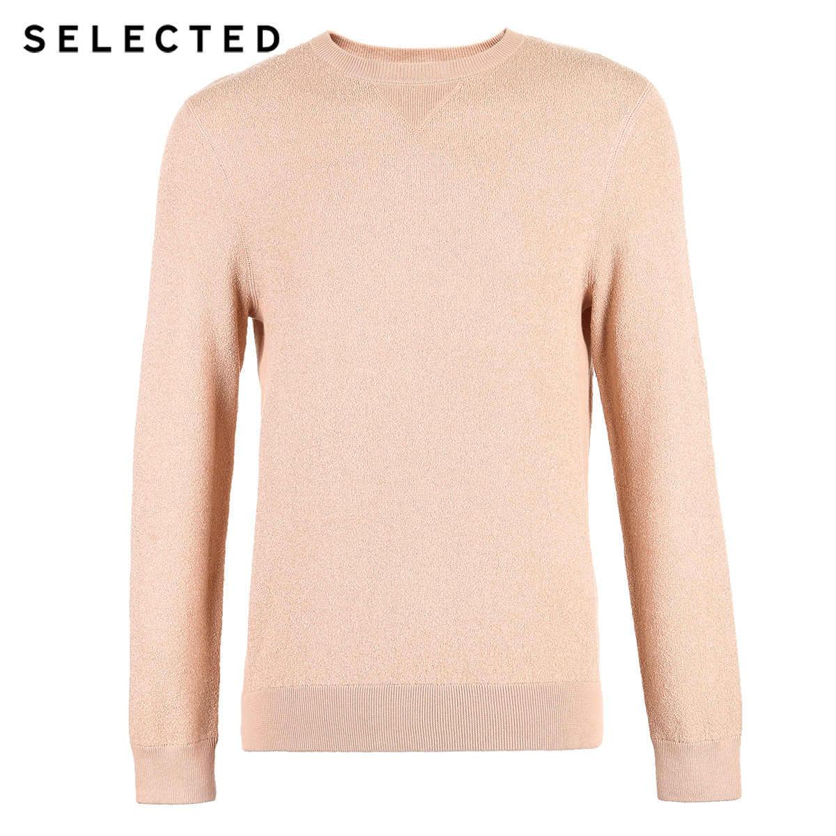 AUSGEWÄHLT Männer der Baumwolle Reine Farbe Pullover Runde Ausschnitt Pullover Stricken Kleidung S | 419124547