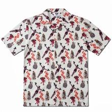 2019 Casual Printed  Shirt Men Street Hip Hop Short Sleeve Mens Fashion Shorts Summer Shirts
