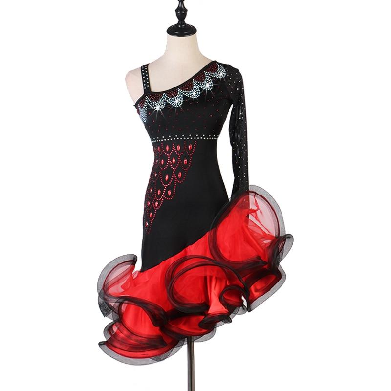 Latin Dance Dress Women Rhinestone Tango Salsa Rumba Cha Cha Competition Dresses Samba Performance Clothing Customized DC3353