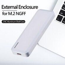 Алюминиевый USB3.1 type-C к M.2 NGFF B+ M ключ внешний корпус SSD, HDD для ПК, ноутбука и Mac