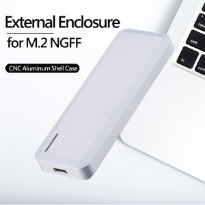 Uneatop Aluminum USB3.1 Type-C to M.2 NGFF B+M Key External SSD HDD Enclosure for PC, Notebook and Mac