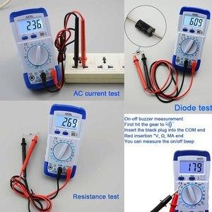 Image 4 - A830L Mini Multimeter Lcd Digitale Multimetro Volt Amp Ohm Tester Meter Voltmeter Amperemeter Backlight Beschermen Met Probe