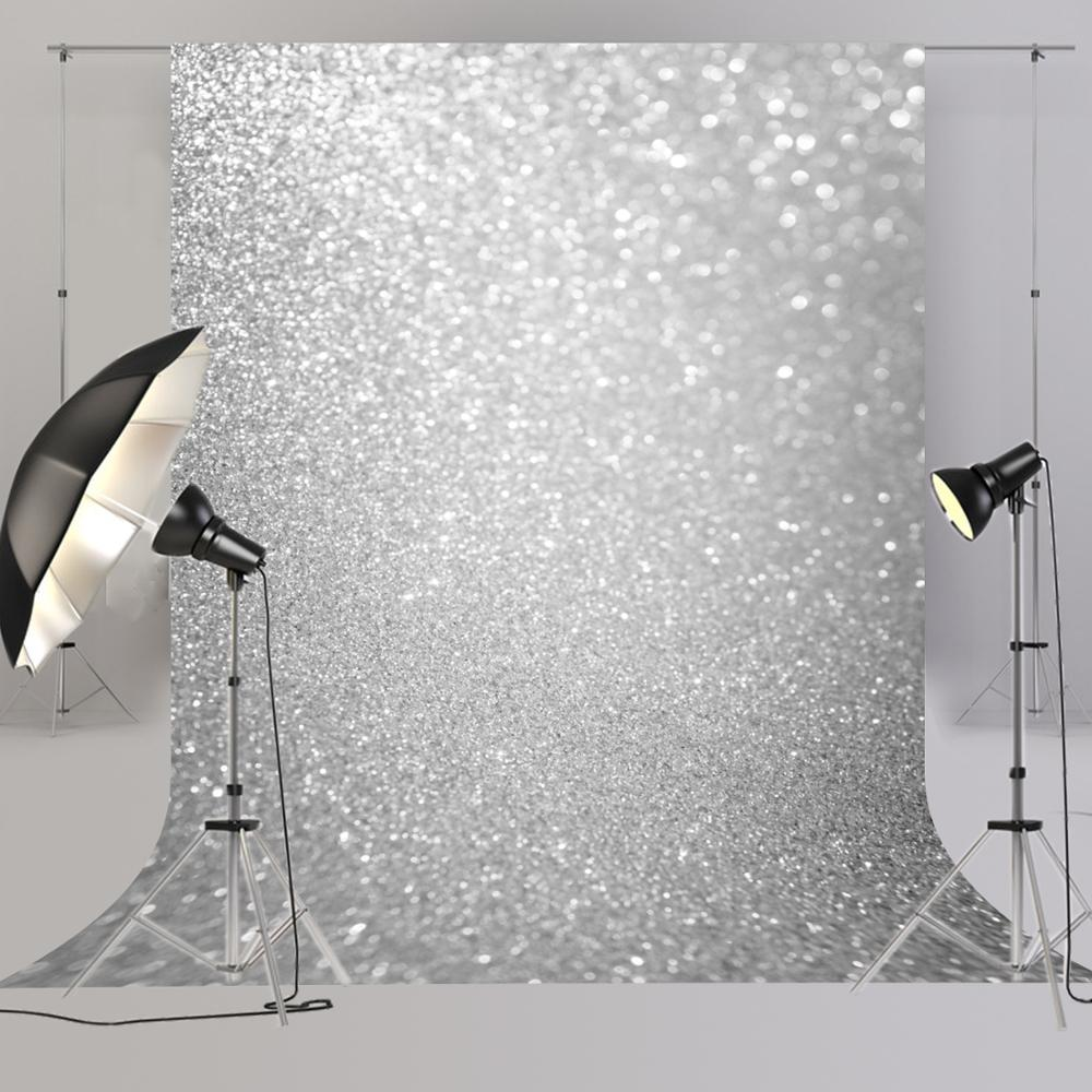 Shinning Grey Photography backdrop for photo Studio Senior Background for newborn silver boken Backdrops Z-39 image