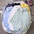 Новое поступление 2020, летние повседневные мужские рубашки, Высококачественная модная повседневная Молодежная рубашка для студентов, 6 цвет...