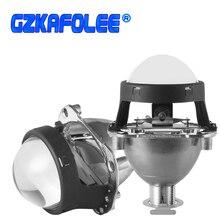 GZKAFOLEE miniproyector universal de 2,5 pulgadas, 2 uds., H4, H7, enchufe, Faro de coche, reajuste, faros de motocicleta de repuesto
