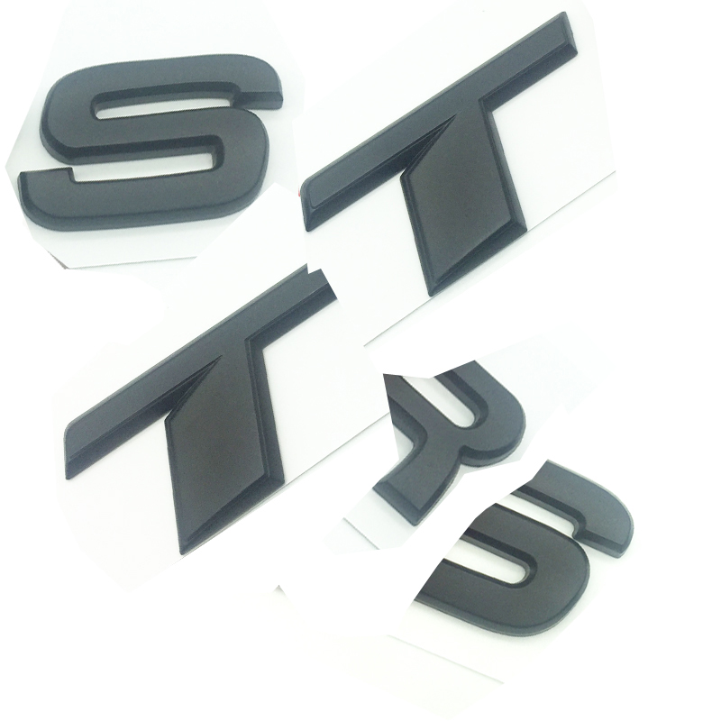 Gloss Black V6T 2 Pack Lettering Numbers Letters Rear Boot Lid Trunk Badge Emblem Compatible For V6T Engine SQ5 S5