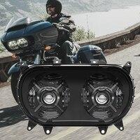 Faro delantero Led para motocicleta, faros dobles DRL de 2015 W, color blanco, para carretera, 2020-124