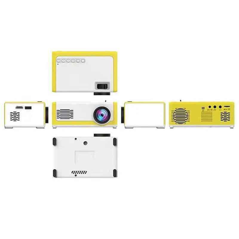 المحمولة جهاز عرض صغير YG300 جهاز عرض (بروجكتور) ليد 600 التجويف 3.5 مللي متر الصوت 320x240 بكسل YG-300 HDMI USB جهاز عرض صغير المنزل وسائل الإعلام Playe