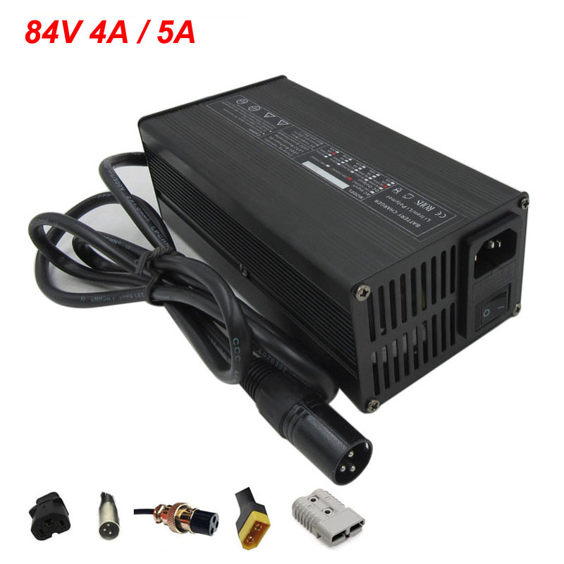 84V 4A 5A <font><b>Lithium</b></font> charger <font><b>72V</b></font> 20S Li-ion charger Used for 72 Volt <font><b>20AH</b></font> 30AH 50AH ebike scooter <font><b>battery</b></font> pack Free shipping image