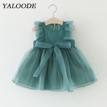 YALOODE Little Girls Dress Lace Tulle Baby Girl Clothes For Princess Party Wedding Pageant Tutu Dress Infant Toddler Clothing brand new girl ceremonies dress baby clothing tutu kids dresses for girls clothes children princess dress for party wedding 3 8t