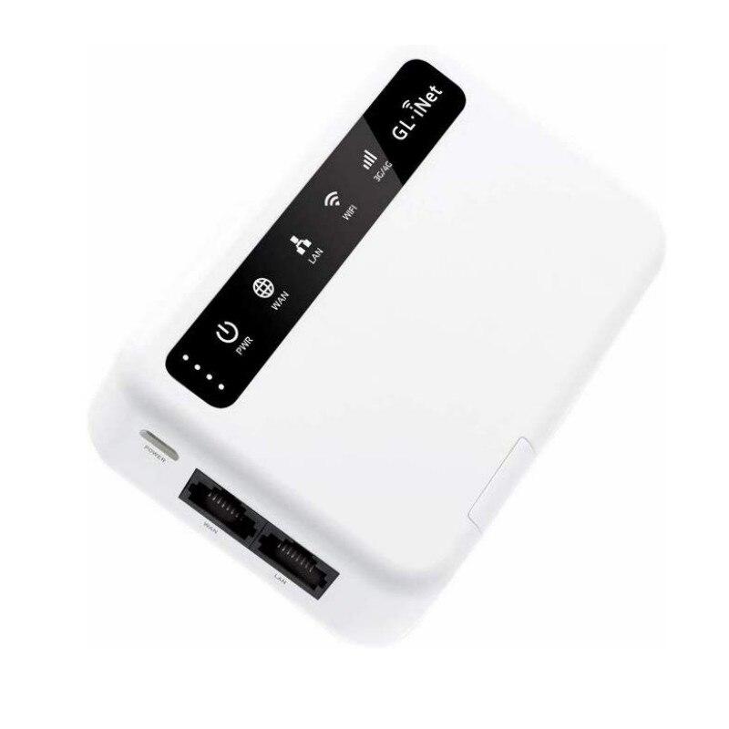 GL.iNet MiFi 4G Smart Router OpenWrt none battery openvpn-клиент 4G LTE до Wi-Fi предназначен для защиты конфиденциальности