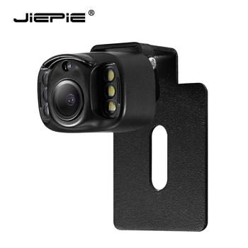 JIEPIE uniwersalna tablica rejestracyjna zamontowana kamera tylna widzenie nocne LED tylna kamera samochodowa 120 ° kąt IP68 kamera cofania tanie i dobre opinie NONE CN (pochodzenie) Tworzywo sztuczne + szkło Przewodowa Zapasowe kamery do auta Z tworzywa sztucznego DC12V 1 4 7440 image sensor