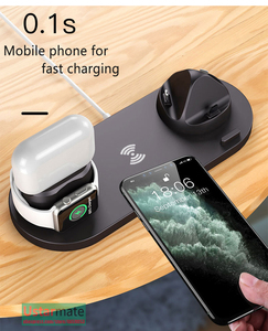 Image 5 - 6in1 Multifunction Quick Wireless Charging Station for iPhone 11pro Xs Max Xr 8 USB Charge Dock for Apple iWatch 5 4 3 Earphone2