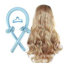 Ferros de ondulação sem calor da haste de ondulação do ferro curler fita de seda fazer o cabelo encaracolado macio e brilhante