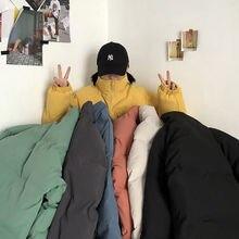 Clothing Parkas Korean Fashion Couple Oversize Streetwear Warm Winter Men's New Woman