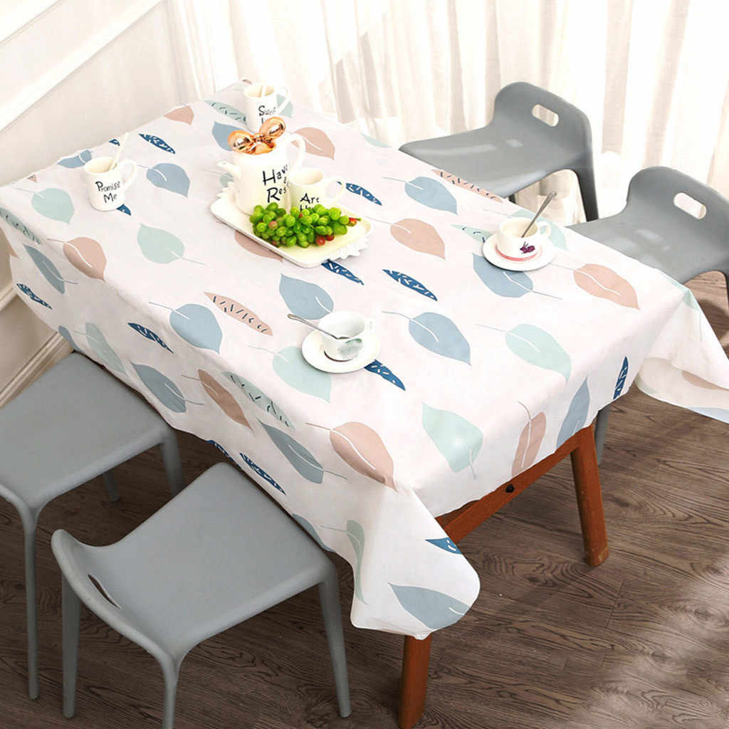 Waterproof PVC Tablecloth Oil cloth Glass Soft Proof Table Cloth For Kitchen Decorative Dining Table Cover Mat Kitchen #jink