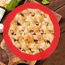 8-11 дюймов Регулируемый силиконовый пирог корка щит инструменты для пиццы силиконовые подходят в оправе блюдо kichen аксессуары